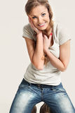 Very beautiful girl with natural beauty Royalty Free Stock Photography
