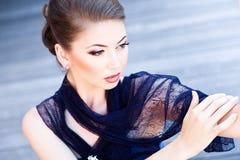 Very beautiful model wearing make-up Royalty Free Stock Photos