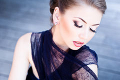 Very beautiful model wearing make-up Royalty Free Stock Images