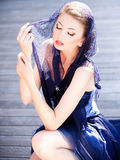 Very beautiful model wearing make-up Royalty Free Stock Photography