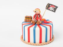 Very beautiful pie for the boy with the pirate Royalty Free Stock Image