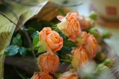 Peach tea bouquet royalty free stock photography