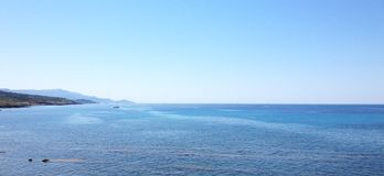 Sea and blue sky in Sardinia royalty free stock photos