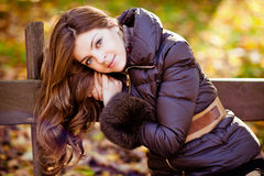Very beautiful and sexy girl with smart brown hair and big eyes Stock Photo