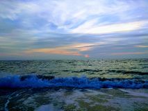 Dawn in the Black Sea stock photography