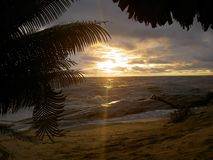 Very Beautiful sunset in Liberia,Africa stock photography