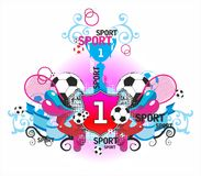 Very beautiful symmetric sports composition with b Royalty Free Stock Image