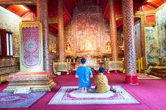 the very beautiful temple of Wat Phra Singh Stock Photography