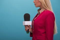Very beautiful TV presenter Stock Photos