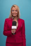 Very beautiful TV presenter Stock Images
