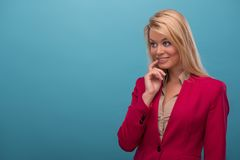 Very beautiful TV presenter Royalty Free Stock Photography
