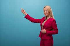 Very beautiful TV presenter Royalty Free Stock Photos
