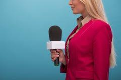 Very beautiful TV presenter Royalty Free Stock Photo