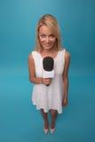 Very beautiful TV presenter Royalty Free Stock Photos
