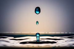 Very Beautiful Water Drops. It Feels Calm And Cool. Royalty Free Stock Image
