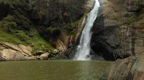 Beautiful waterfall in sri lanka stock photography
