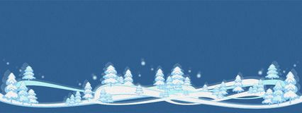 Winter background illustration navy blue. Winter tree magic forest banner. Very beautiful winter background with oil paint effect, , winter banner, application royalty free illustration