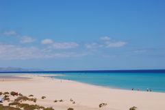 The very best beach. Playa de Sotavento on Fuerteventura, Canaries. One of the most beautiful beaches in the world Stock Photo