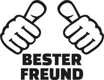 Very best friend german with thumbs Royalty Free Stock Image