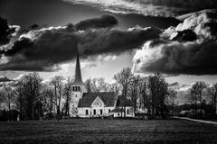 Very big black clouds in the sky before the storm royalty free stock images
