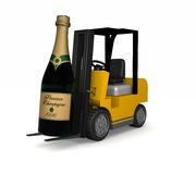 Very Big Champagne bottle Stock Photo