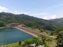 The big dam in srilanka stock photography