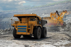 Very big dump-body truck Royalty Free Stock Photography
