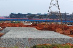 Very Big Grit On One Place in Steel Plant. Image of a Very Big Grit On One Place in Steel Plant stock photo