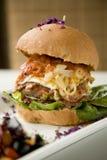 Very big hamburgerg stock photos