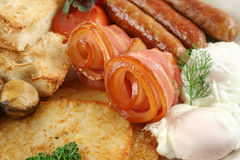 Very Big Mixed Grill Breakfast Stock Photography