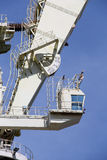Very big shipyard crane, detail detail of the cabin Stock Photo