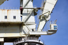 Very big shipyard crane, detail detail of the structure Royalty Free Stock Photos