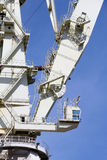 Very big shipyard crane, detail detail of the structure Royalty Free Stock Image