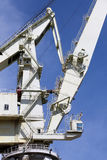 Very big shipyard crane, detail detail of the structure Stock Photo