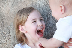 Very big smile Stock Images
