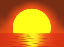 Very big sun vector vector illustration