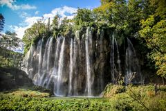 Waterfall in Plitvice National Park stock images