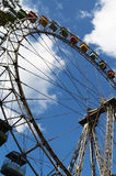 Very big wheel. Attraction a big wheel in park of entertainments Stock Photography