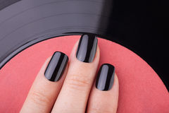 Very black nails stock images