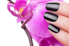 Very black nails Royalty Free Stock Image