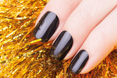 Very black nails stock photography
