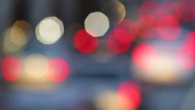 Very blurry traffic scene at dusk stock footage