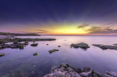 Very bright fantastic seascape Royalty Free Stock Images
