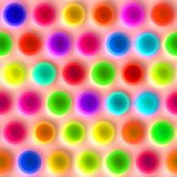 Very bright spots pattern Royalty Free Stock Image
