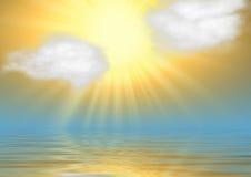 Very bright sun Stock Image