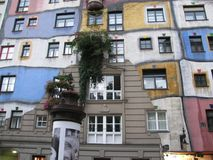 Very bright and unusual house. The house is a holiday. Vienna, Austria royalty free stock photography