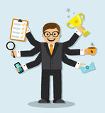 Very busy businessman Royalty Free Stock Photos