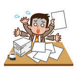 Very busy businessman Royalty Free Stock Photography