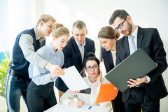 Very busy female CEO Royalty Free Stock Photo