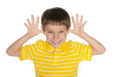 Very cheerful boy Royalty Free Stock Images